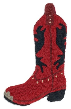 red cowboy boot stocking
