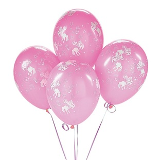 pink western balloons cowgirl and horse print