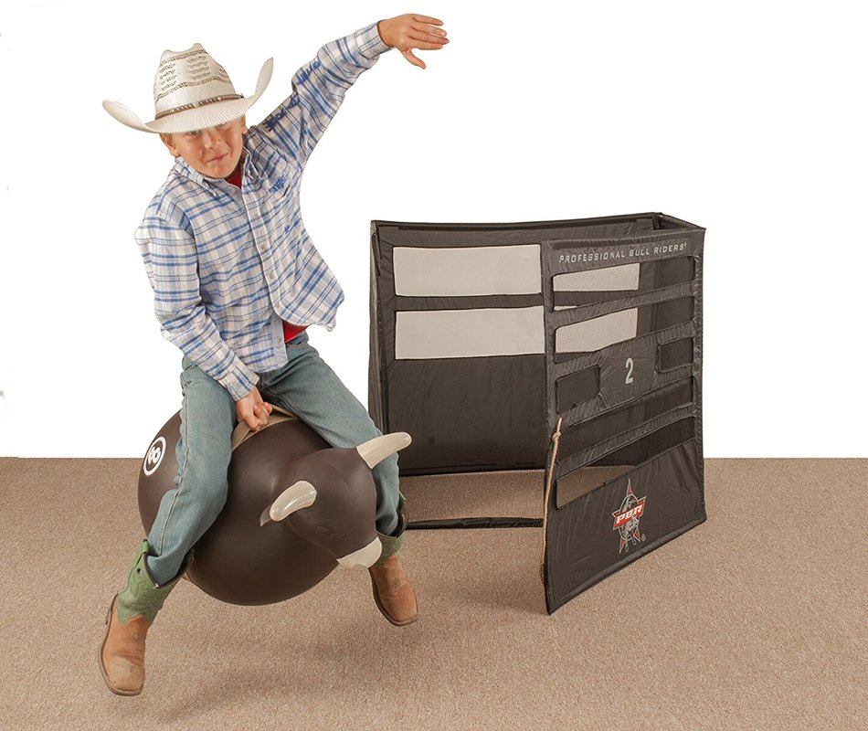 PBR bull riding bucking chute for kids