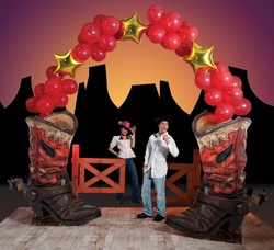 western party entrance decoration