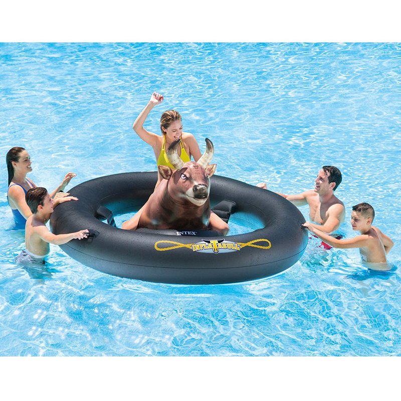 bull riding pool toy
