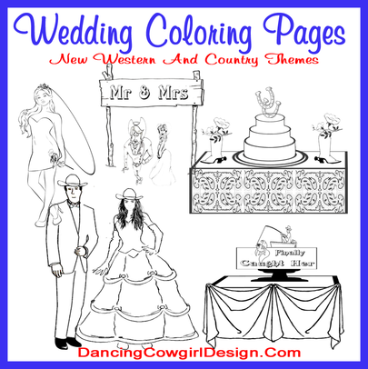 - Wedding Coloring Pages - DANCING COWGIRL DESIGN