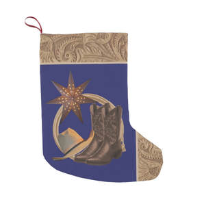 western Christmas stocking cowboy boots hat rope and dtar