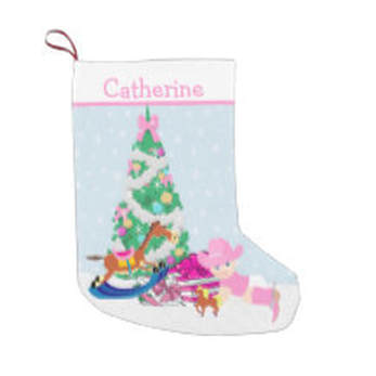 baby cowgirl Christmas stocking
