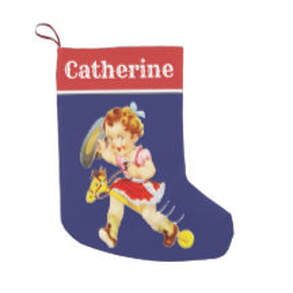 Little cowgirl stick horse Christmas stocking