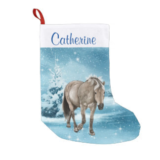 Christmas stocking with horse