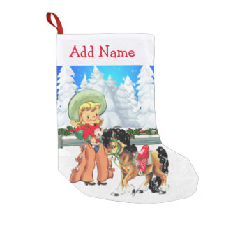 western cowgirl Christmas stocking