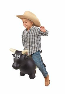 ride on bouncing bull riding toy
