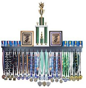 trophy and ribbon display shelf