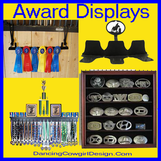 award display belt buckle ribbon  display