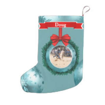 Christmas stocking with photo