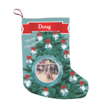 western Christmas stocking with photo