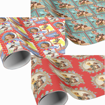 cowgirl gift wrapping paper