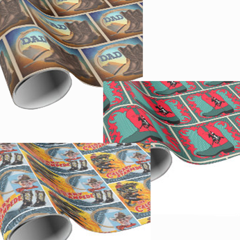 cowboy gift wrapping paper