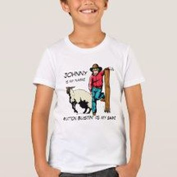 personalized mutton bustin' shirt
