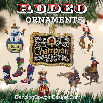 Western Christmas Tree Dancing Cowgirl Design