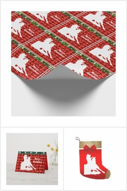 western rodeo cowgirl barrel racing christmas