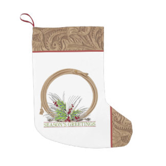 western cowboy rope and spurs Christmas stocking