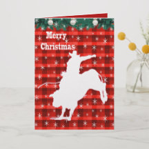 Bull riding Christmas card western