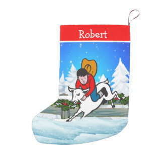 rodeo mutton bustin Christmas stocking
